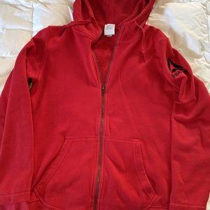 Women's Reebok zip up hoodie red Medium
